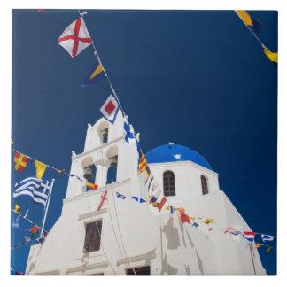 Greece and Greek Island of Santorini town of Oia 4 Tile