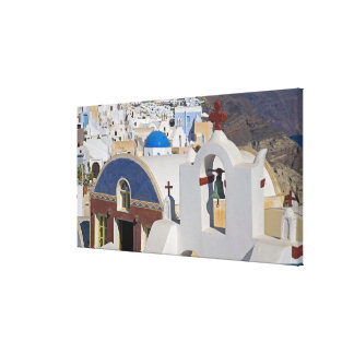 Greece and Greek Island of Santorini town of Oia 5 Canvas Print