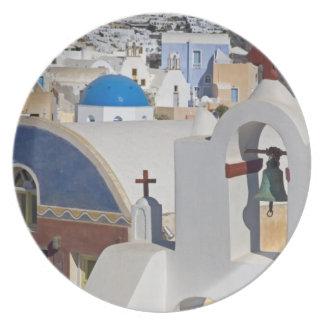 Greece and Greek Island of Santorini town of Oia 5 Plate