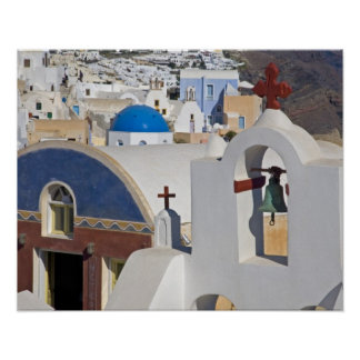 Greece and Greek Island of Santorini town of Oia 5 Poster