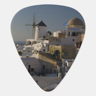 Greece and Greek Island of Santorini town of Oia Guitar Pick