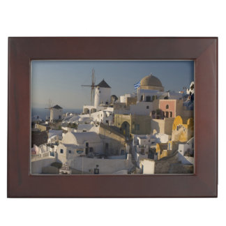 Greece and Greek Island of Santorini town of Oia Keepsake Box