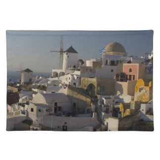 Greece and Greek Island of Santorini town of Oia Placemat