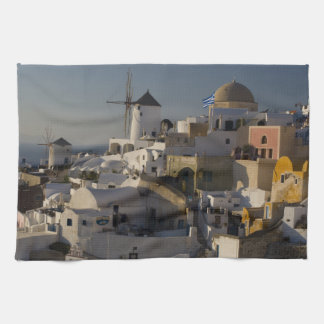 Greece and Greek Island of Santorini town of Oia Towel