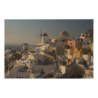 Greece and Greek Island of Santorini town of Oia Wood Wall Decor