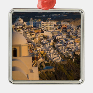 Greece and Greek Island of Santorini town of Silver-Colored Square Decoration