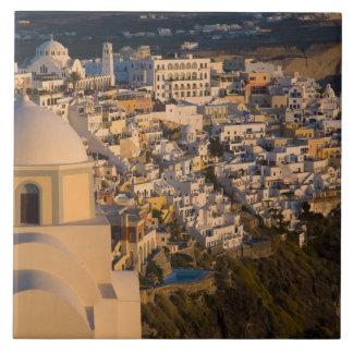 Greece and Greek Island of Santorini town of Tile