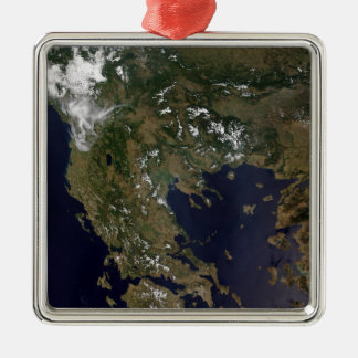 Greece and its surrounding countries Silver-Colored square decoration