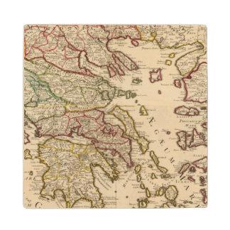 Greece and Macedonia Wood Coaster