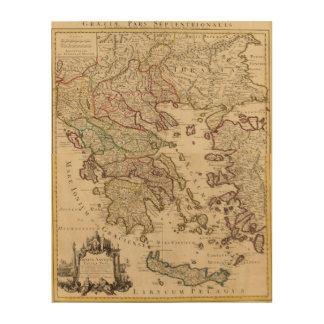 Greece and Macedonia Wood Wall Art
