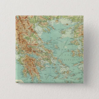 Greece and the Aegean 15 Cm Square Badge