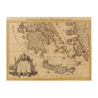 Greece and Turkey 3 Wood Print