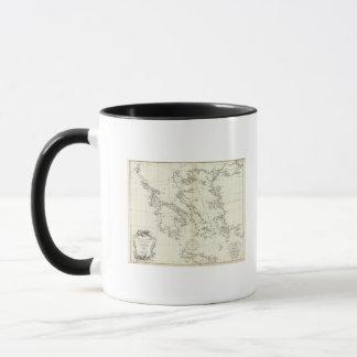 Greece and Turkey Engraved Map Mug