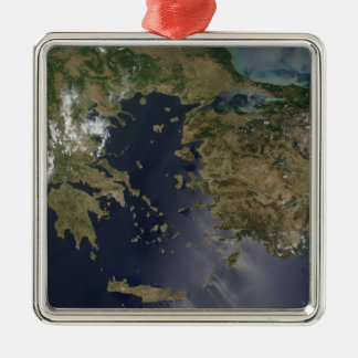 Greece and Turkey Silver-Colored Square Decoration