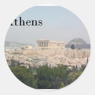 Greece Athens Acropolis Classic Round Sticker