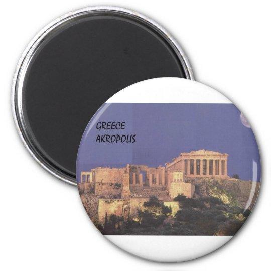 Greece Athens Akropolis Parthenon (St.K) 6 Cm Round Magnet