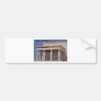 Greece Athens Parthenon-karyatides (St.K) Bumper Sticker
