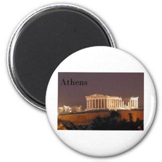 Greece Athens Parthenon (St.K) 6 Cm Round Magnet