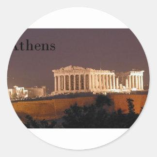 Greece Athens Parthenon (St.K) Round Sticker