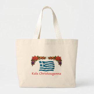 Greece Christmas Large Tote Bag