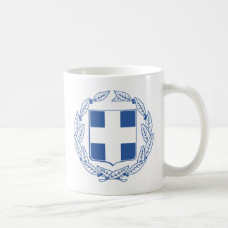 Greece Coat Of Arms Basic White Mug