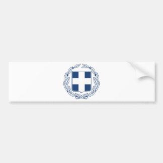 Greece Coat of Arms Car Bumper Sticker