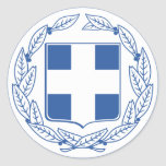 Greece Coat of arms GR Round Sticker