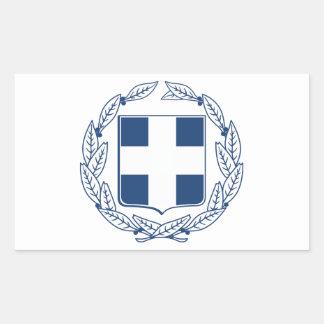 Greece Coat of Arms Rectangular Stickers