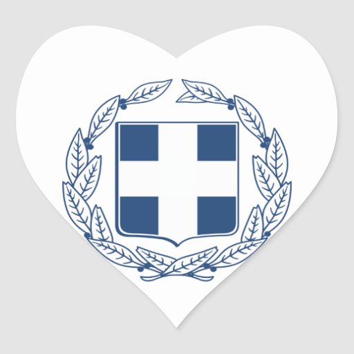 Greece Coat of Arms Sticker