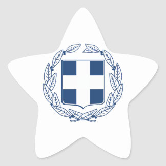Greece Coat of Arms Star Sticker