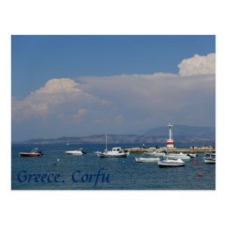 Greece, Corfu, Old Lighthouse, Postcard