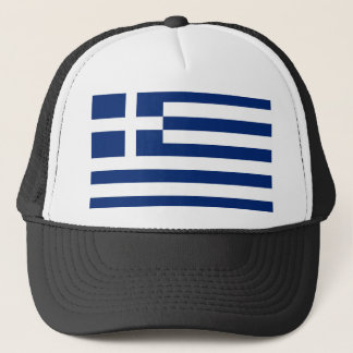 greece country flag nation symbol long trucker hat