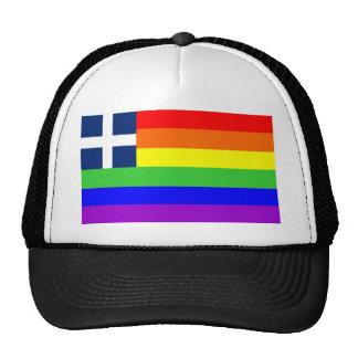 greece country gay proud rainbow flag homosexual cap