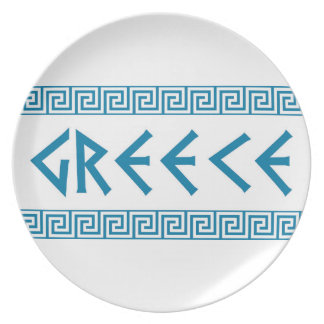 greece country symbol name text greek dinner plates