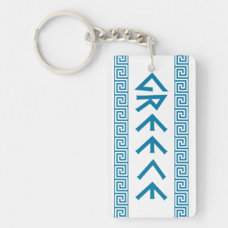 greece country symbol name text greek key ring