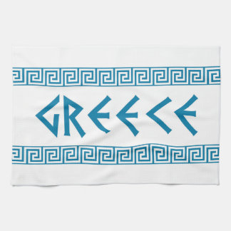greece country symbol name text greek tea towel