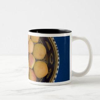 Greece, Crete. A bowl of Mediterranean Two-Tone Coffee Mug