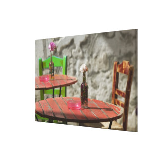GREECE, CRETE, Hania Province, Hania: Colorful Canvas Print