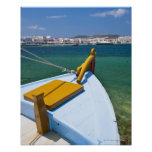 Greece, Cyclades Islands, Mykonos, Fishing boat Poster
