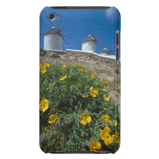 Greece, Cyclades Islands, Mykonos, Flowers near iPod Touch Case-Mate Case