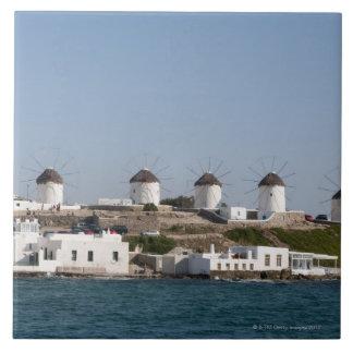 Greece, Cyclades Islands, Mykonos, Mykonos Town, Large Square Tile