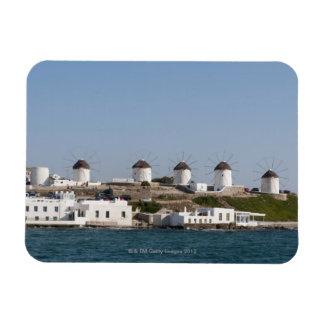 Greece, Cyclades Islands, Mykonos, Mykonos Town, Rectangular Photo Magnet