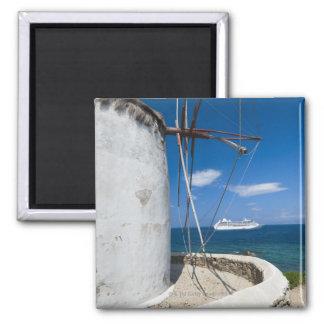 Greece, Cyclades Islands, Mykonos, Old windmill Magnet