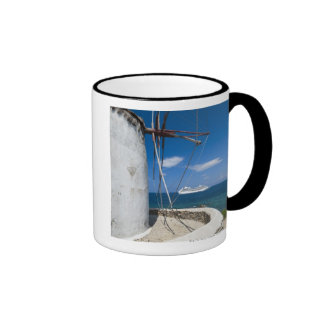 Greece, Cyclades Islands, Mykonos, Old windmill Mugs