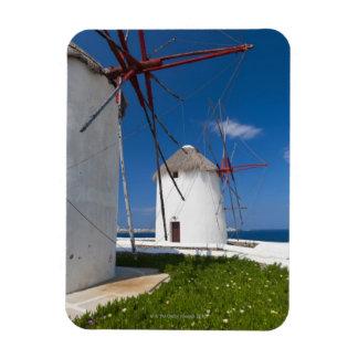 Greece, Cyclades Islands, Mykonos, Old windmills 2 Rectangular Magnet