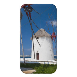 Greece, Cyclades Islands, Mykonos, Old windmills 2 iPhone 4 Covers