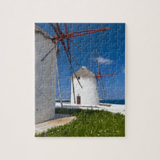 Greece, Cyclades Islands, Mykonos, Old windmills 2 Jigsaw Puzzle