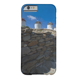 Greece, Cyclades Islands, Mykonos, Stone wall Barely There iPhone 6 Case