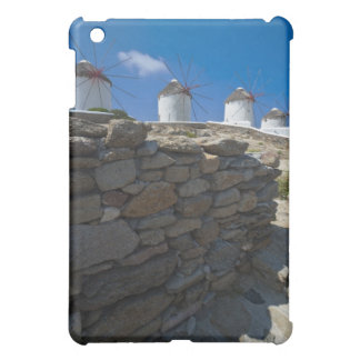 Greece, Cyclades Islands, Mykonos, Stone wall iPad Mini Case