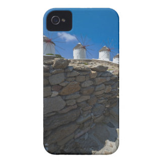 Greece, Cyclades Islands, Mykonos, Stone wall iPhone 4 Case